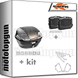 kappa maleta k400nt + maletas laterales kgr33npack2 + portaequipaje monolock + portamaletas lateral monokey compatible con triumph bonneville t100 2020 20