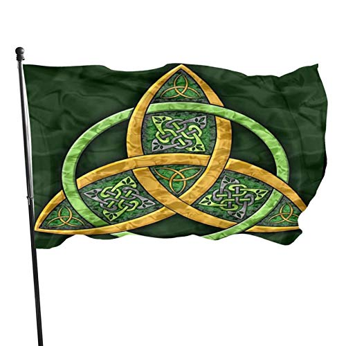 American Flags Celtic Trinity Knot - Irish Flag 3 X 5 Ft,Family Party Flags in Indoor Banner Breeze Flag Outdoor Flags Home Flag Garden Flags
