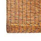 Persiana Enrollable Cortina De Caña Ahumado - Persianas De Caña para Ventana De Vestidor - Enrollable De Bambú - Ecological Sunshade Partition Curtain (60x135cm 110x175cm 150x225cm)