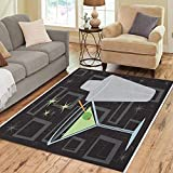 Pinbeam Area Rug Retro Martini Shaker Over Groovy All Together Separately Home Decor Floor Rug 2' x 3' Carpet