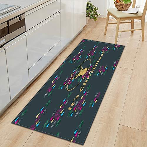 HLXX Kitchen floor mats, bathroom mats, bedroom floor mats, balcony non-slip floor carpets A20 50x80cm