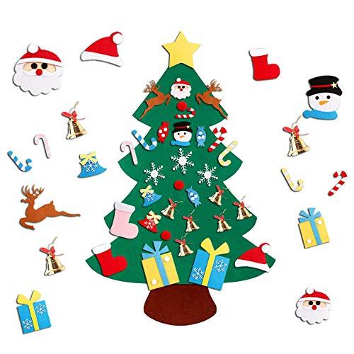 YOUYIKE Árbol de Navidad de Fieltro,95x70cm DIY Arbol de Na