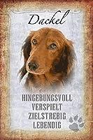 ダックスフント犬錫サイン壁の装飾金属ポスターレトロプラーク警告サインオフィスカフェクラブバーの工芸品