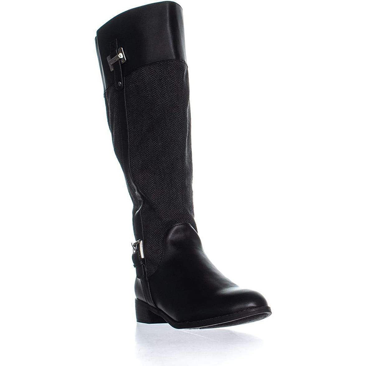 酔ってもう一度生命体[Karen Scott] Womens Deliee Leather Almond Toe Knee High Fashion Boots [並行輸入品]