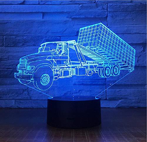 Container hanger LkW 3D stereo lamp slaapkamer LED sfeerverlichting nachtkastje verlichting usb nachtlamp kinderen geschenk afstandsbediening Bluetooth control kleur