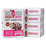 Zee Zees Cocoa Cherry Soft Baked Snack Bars, Nut-Free, Whole Grain, Naturally Colored and Flavored,1.3 oz, 30 pack …