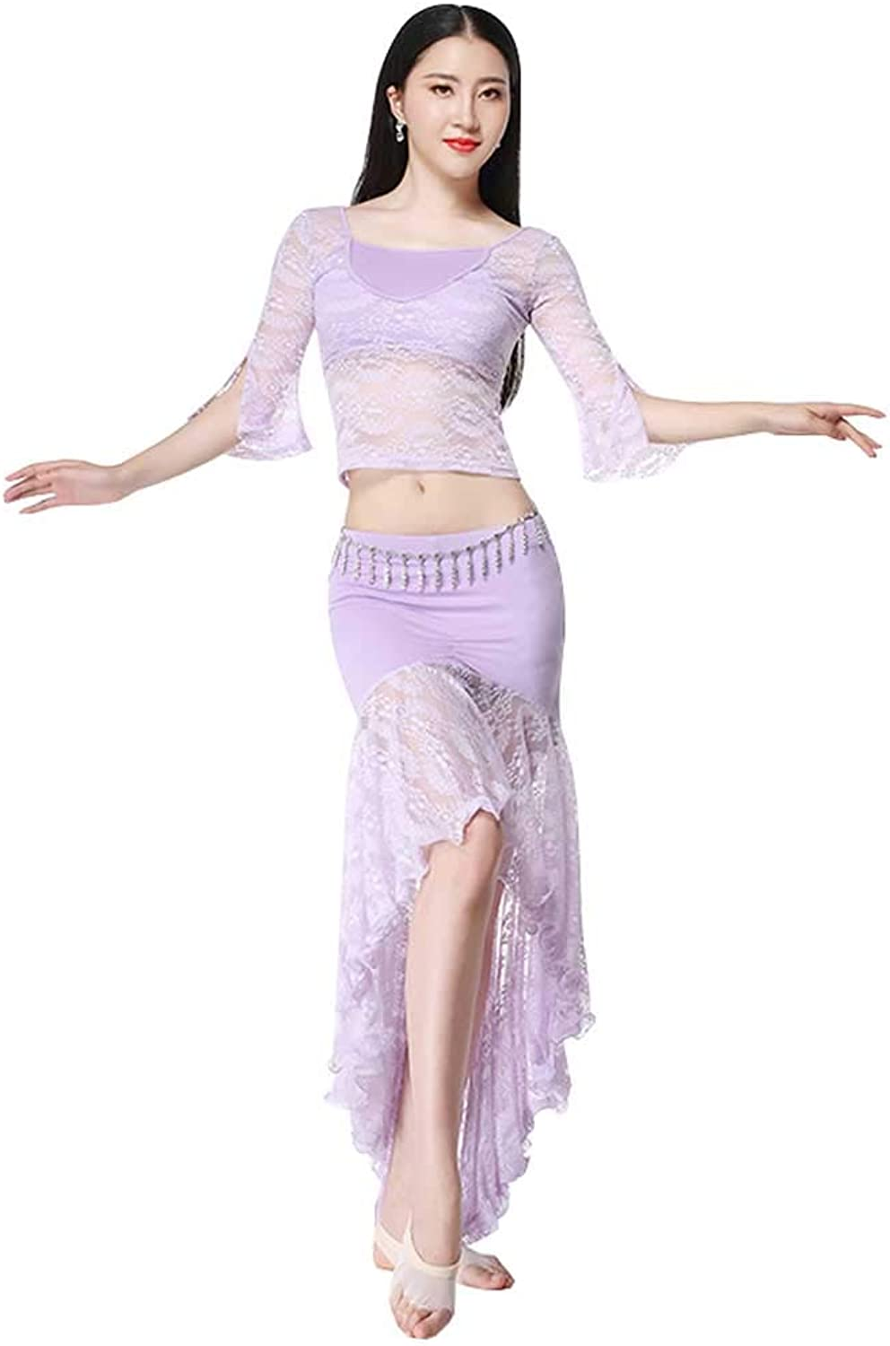 Belly Dance Practice Clothes Suit For Women,sexy Lace Gymnastics Performance Performance Clothes suit