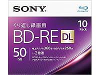 エスコ(ESCO) 50GB BD-RE(ビデオ用 2倍速/10枚) EA759GS-82