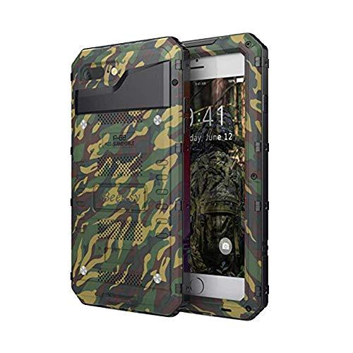 Beeasy Funda Antigolpes para iPhone 7/8,[Impermeable] Carcasa Resistente Waterproof Reforzada Metálica Grado Militar con Protector de Pantalla a Prueba de Polvos Case para iPhone7 / iPhone8,Camuflaje