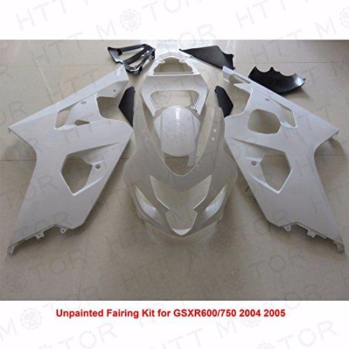 SMT-Unpainted ABS Plastic Injection Fairings Bodywork Compatible With 04-05 Suzuki GSXR 600 750 [B01MV01K3K]