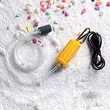 Adeeing Mini USB portátil acuario pecera tanque de oxígeno bomba de aire silenciar ahorro de energía suministros accesorios, amarillo