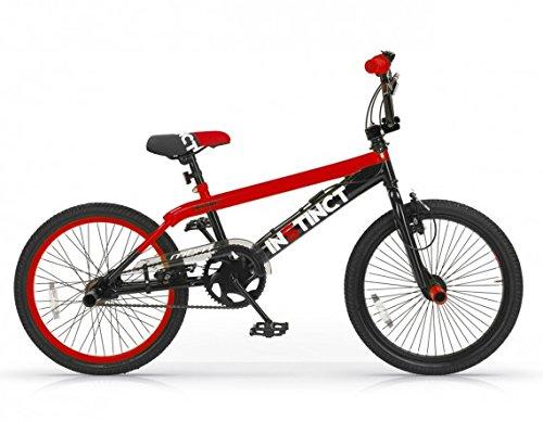 MBM BMX Istinct, Bici da Freestyle Unisex Bambini, Rosso A20, 20'