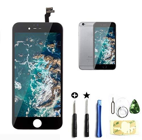 passionTR Compatible Fuer iPhone 6 LCD Display Reparaturset Ersatz Touchscreen Bildschirm Komplettset mit Werkzeuge(Schwarz)