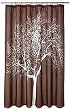 Splash Home Duschvorhang, Polyester, 178 x 183 cm, Schokoladenbraun, 180 x 183 cm