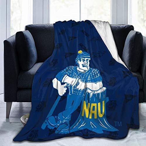 Littlearth NCAA Northern Arizona Lumberjacks Warm Blankets Ultra Soft Micro Fleece Blanket Bed Couch Living Room Super Soft Microfleece Warm blanket80 x60