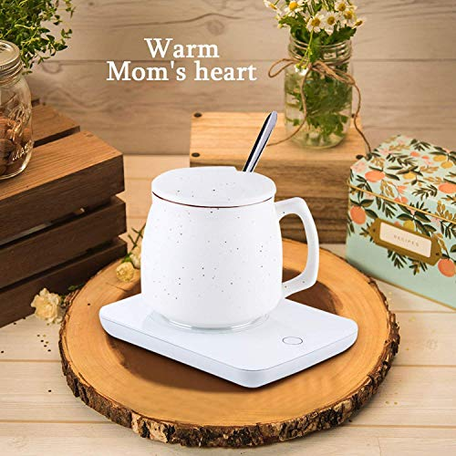 Misby Coffee Warmer for Desk Cup Warmer with Automatic Shut Off Coffee Mug Warmer for Coffee Milk Tea Keep (White)