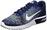 Nike Air MAX Sequent 2, Zapatillas Hombre, Azul (Binary Blue/White/Blue Moon/lt Armory Blue/Volt), 42 EU