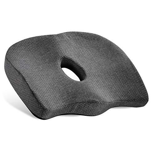 Mosun Premium Comfort Seat Cushion for Office Chair/Car Seat - Tailbone Pain Relief Cushion - Coccyx Cushion - Back Pain Sciatica Relief Seat Cushion - Ergonomic, Non-Slip & Safe Material (Grey)