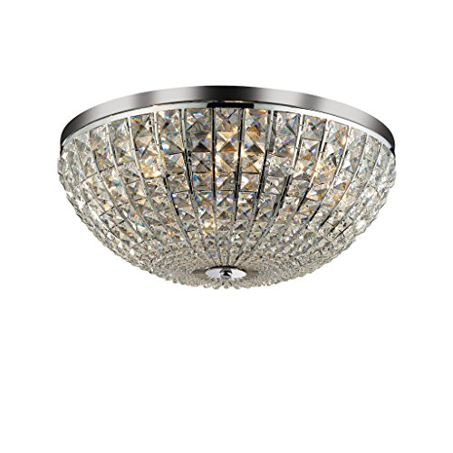 Ideal Lux Calypso PL8 Apto para uso en interior E14 40W Cromo iluminación de pared - Lámpara (Cepillado, Alrededor, 8 bombilla(s), 40 W, E14, Cromo)