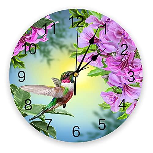 Tbqevc Decoración de Muebles Reloj de Pared Reloj de Pared Estilo Mudo Sala de Estar decoración del hogar Colgante de Pared 12 Pulgadas