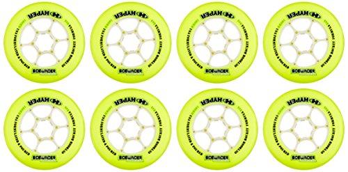 Hyper Rollen für Inlineskates Sidewinder - 84A - 8er Set, Gelb, 100, 72003