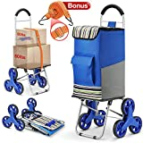 Winkeep Upgraded Shopping Trolley, 2in1 Folding Shopping Cart 75L Capacity & Hand Truck Super Loading 50kg -...