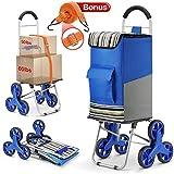 Winkeep Einkaufstrolley, 2 in 1 Klappbar Einkaufswagen 75L Kapazität & Sackkarre Super Laden 50Kg -...