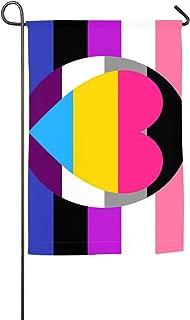 PIOL Gender Fluid and Pan-Romantic Asexual Garden Flag House Flag Polyester Yard Flag Decoration Flag