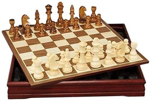 DJRH Junta de Juego de ajedrez para, Juego de ajedrez Internacional Conjunto Juego Juego de Mesa de ajedrez Colección portátil Tablero de Viaje Juguetes Juguetes Regalo ( Size : B )