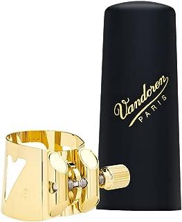 Vandoren LC07P Optimum Ligature and Plastic Cap for Alto Saxophone Gilded with 3 Interchangeable Pressure Plates