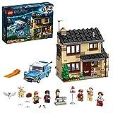LEGO Harry Potter Privet Drive, 4, Playset con la Ford Anglia e le Figure di Dobby e della Famiglia Dursley, 75968