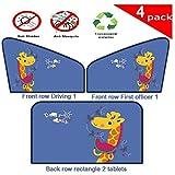 WANGXIAO Autosonnenschutz, Kinderautosonnenschutz, Mit Zertifiziertem UV-Schutz, Insektenschutz Für Ihr Baby, Kinder Und Haustier,A