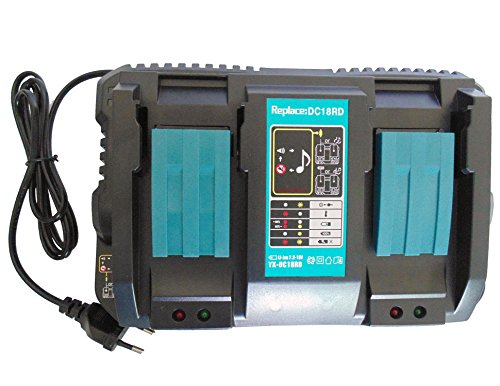 Cargador de batería para Makita DC18RD 196933-6, cargador rápido doble para baterías Makita de 14,4 V, BL1415, BL1415N, BL1430, BL1440, BL1450 y 18 V, BL1815, BL1815N, BL1830, B BL1840 B 850 BL. 1860