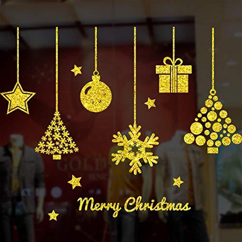 Adhesivo de cristal de Navidad para decoración de ventanas, no tóxico