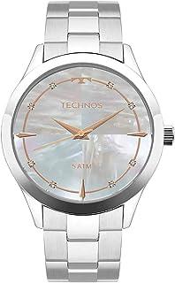Relógio Feminino Technos Digital Com Cristais Swarovski 2039Bb/1K Prata