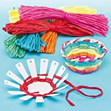 Baker Ross Basket Weaving Craft Project — Ideal for Kids' Arts and Crafts, Small Gifts, Keepsakes and More (Pack of 4)
