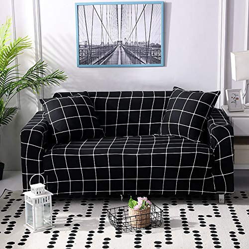 PPMP Living room geometric all-inclusive sofa cover modern elastic section corner sofa cover sofa cover A16 4 seater