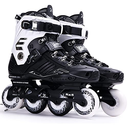 Inliner Damen Herren Inlinerskates,für Erwachsene Professionelle Inline Speed Skating Schuhe Anfänger Sport Outdoor Fitness für Damen Und Herren Black,40