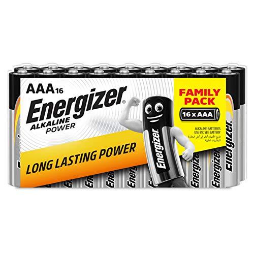 Energizer 944251 - Pilas alcalinas AAA, pack de 16 unidades, multicolor