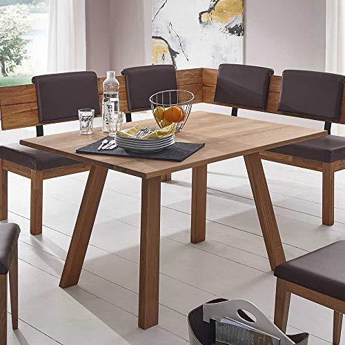 Esszimmertisch aus Wildeiche Massivholz 130 cm breit