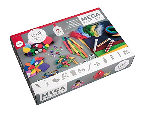 RAYHER HOBBY 69082000 Kit per lavoretti creativi, set bricolage, diversi materiali, Multicolore, 1200 pz.