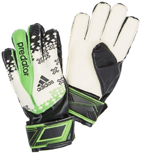 adidas Kinder Torwart Handschuhe Predator Fingersave Junior, Schwarz/Weiß, 5, G73418