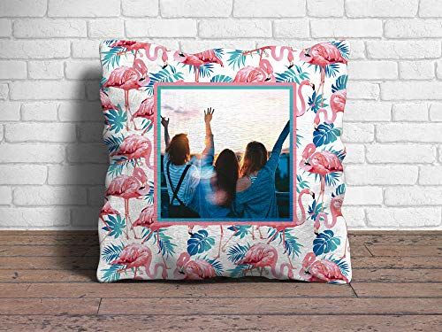 Oedim Cojín Flamencos Personalizado | 40 x 40 cm | Fabricado en Display 225gr | Relleno Incluido