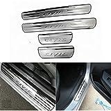 4Pcs Coche Exterior Protector Decoración Estribos, para Honda Civic 2006-2015 Kick Plates Door Sill Scuff, Acero Inoxidable Antideslizante Antiarañazos Sticker Accesorios