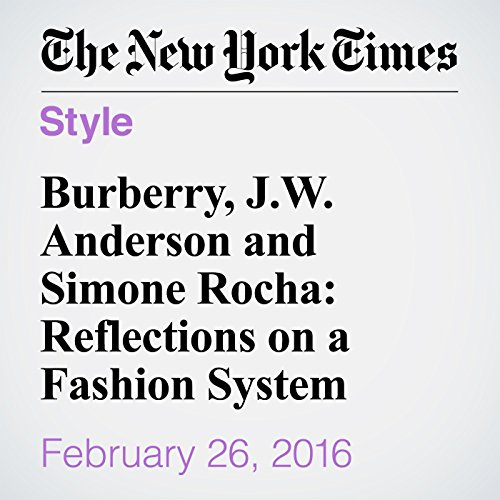 Burberry, J.W. Anderson and Simone Rocha: Reflections on a Fashion System cover art