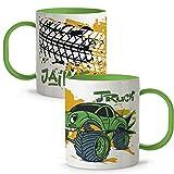 LolaPix Taza con Nombre. Tazas Personalizadas. Tazas Infantiles plástico. Varios diseños. Truck...