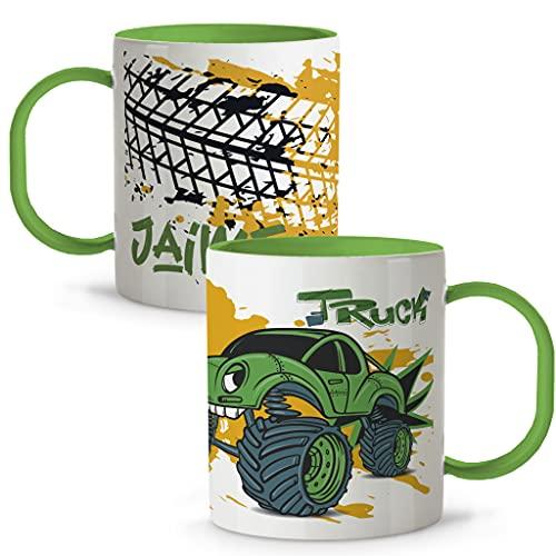 LolaPix Taza con Nombre. Tazas Personalizadas. Tazas Infantiles plástico. Varios diseños. Truck