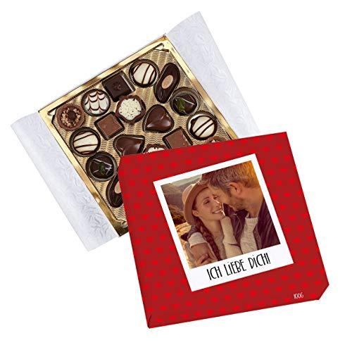 Herz & Heim® Lindt Pralinen in eigener Banderole mit Foto und persönlicher Liebeserklärung für Verliebte