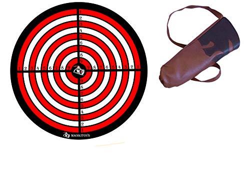 Zielscheibe für Saugnapf Pfeile & Köcher für Pfeile Kinder Set