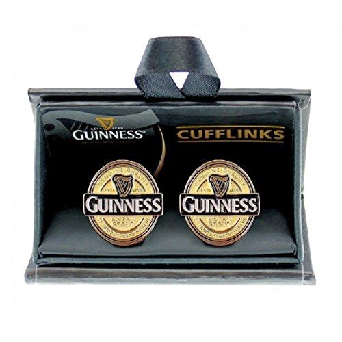 Stilvolle Manschettenknöpfe für Herren mit Guinnes Label Design | Manschette Knöpfen